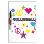 Volleyball Mixed Graphics Dry-Erase Whiteboards