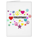 Volleyball Mixed Graphics Greeting Cards
