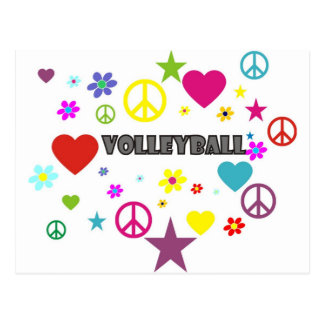 Volleyball Mixed Graphics Postcard