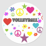 Volleyball Mixed Graphics Stickers