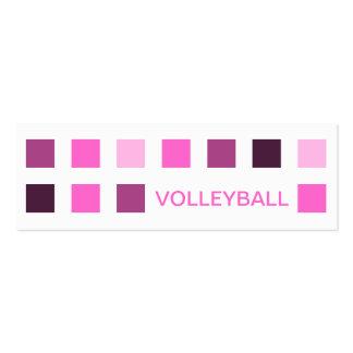 VOLLEYBALL (mod squares) Double-Sided Mini Business Cards (Pack Of 20)