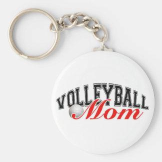 Volleyball Mom Basic Round Button Keychain