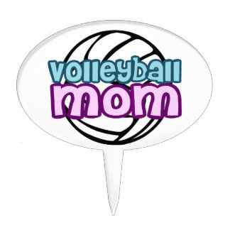 Volleyball Mom Cake Topper