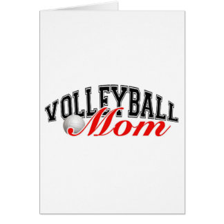 Volleyball Mom Greeting Card