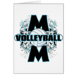 Volleyball Mom (cross).png Greeting Cards
