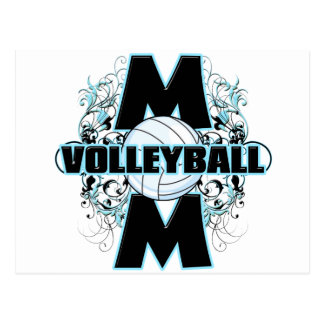 Volleyball Mom (cross).png Postcard
