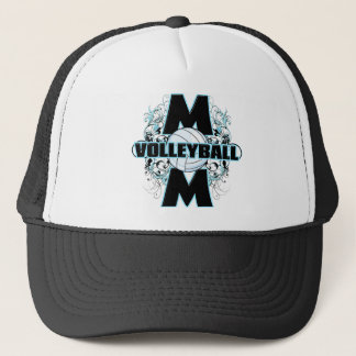 Volleyball Mom (cross).png Trucker Hat