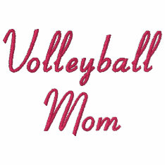 Volleyball Mom Embroidered Hoodie at Zazzle