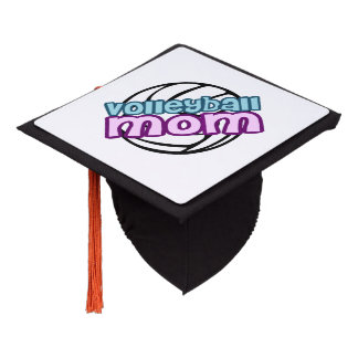 Volleyball Mom Graduation Cap Topper