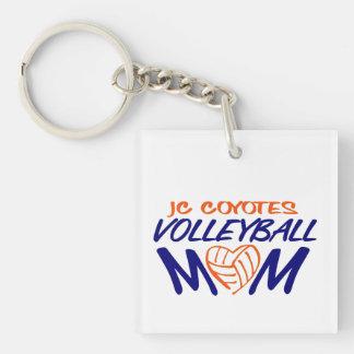 Volleyball Mom heart Keychain