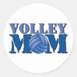 Volleyball mom round sticker