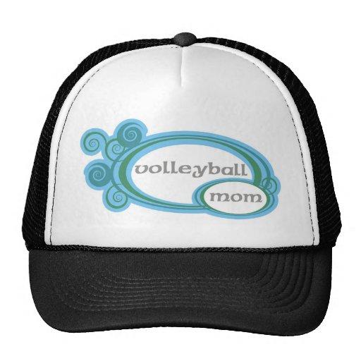 Volleyball Mom Swirl Trucker Hats