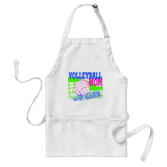 Volleyball Mom With Attitude Adult Apron