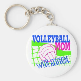 Volleyball Mom With Attitude Keychain