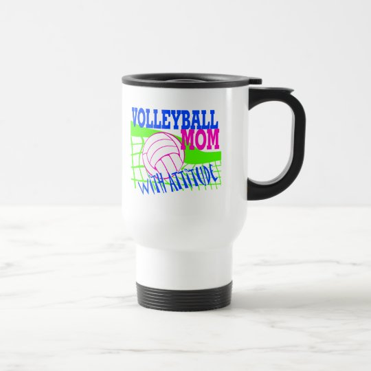 Volleyball Mom With Attitude Travel Mug