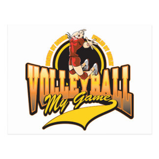 Volleyball My Game Postcard
