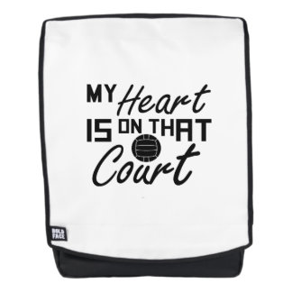 Volleyball My Heart Is On That Court Backpack