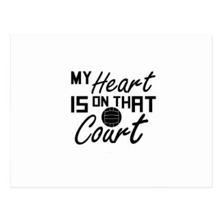Volleyball My Heart Is On That Court Postcard