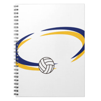 Volleyball Name Drop Notebook