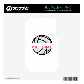 Volleyball Name Drop iPod Touch 4G Skins