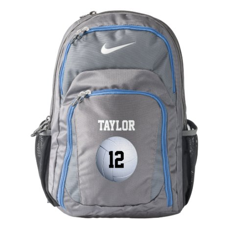 Volleyball Name Number Template Nike Backpack