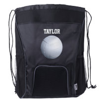 Volleyball Name Template Drawstring Backpack