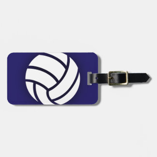 Volleyball Navy Blue Bag Tag