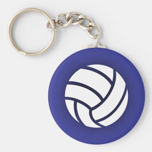 Volleyball Navy Blue Keychains