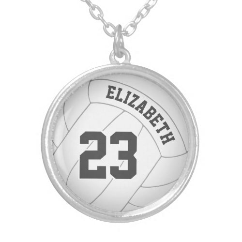 volleyball necklace w player's name/jersey number