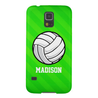Volleyball; Neon Green Stripes Case For Galaxy S5
