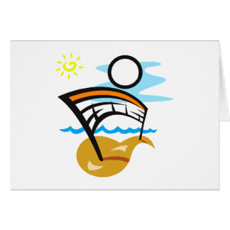 Volleyball Net & Ball Greeting Card