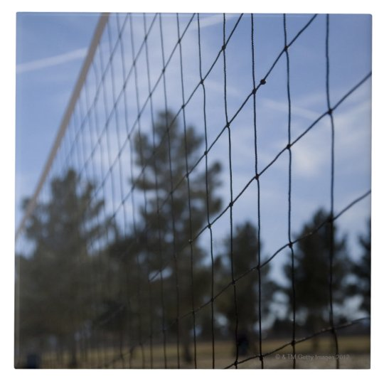 Volleyball net ceramic tile