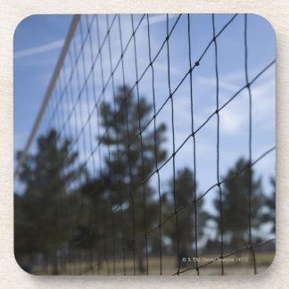 Volleyball net coaster