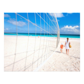 Volleyball net flyer