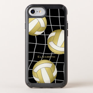 volleyball net gold white volleyballs custom name speck iPhone case