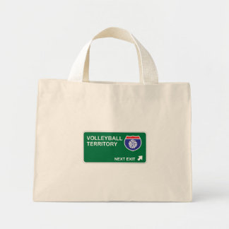 Volleyball Next Exit Canvas Bags