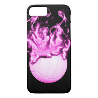 Volleyball on fire iPhone 7 case