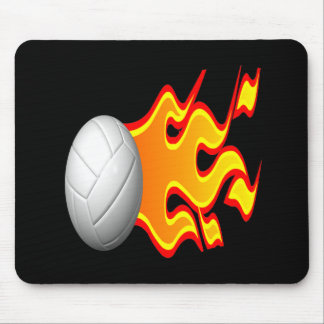 Volleyball On Fire Mousepads