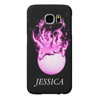 Volleyball on fire samsung galaxy s6 cases