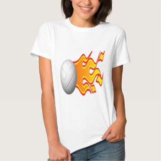 Volleyball On Fire T Shirt