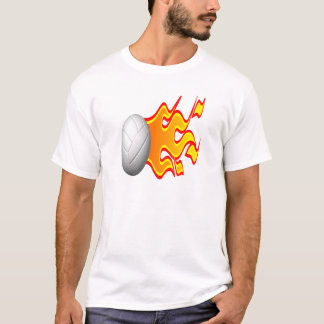 Volleyball On Fire T-Shirt
