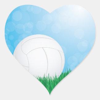 volleyball on grass sticker