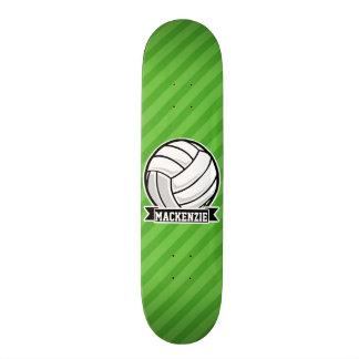 Volleyball on Green Stripes Skate Board Decks