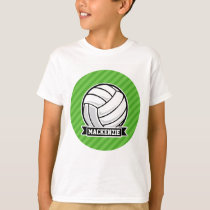 Volleyball on Green Stripes T-Shirt