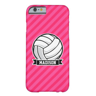 Volleyball on Neon Pink Stripes Barely There iPhone 6 Case