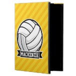 Volleyball on Yellow Stripes iPad Air Cover