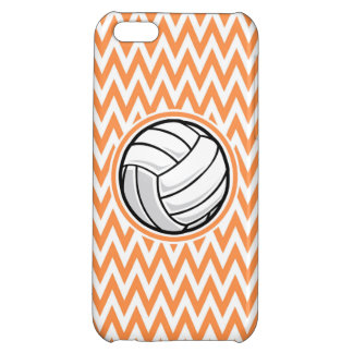 Volleyball; Orange and White Chevron iPhone 5C Cover