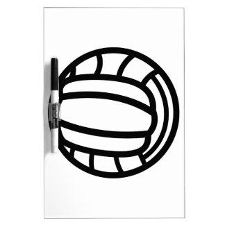 Volleyball Outline Dry Erase Board