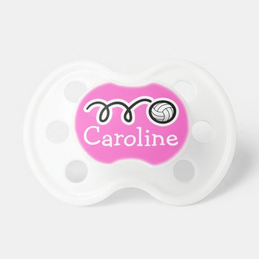 Volleyball pacifier for baby girl | Personalized