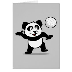 Greeting Card with Cute Volleyball Panda design